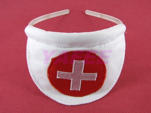 Seductive White Nurse Costume Lingerie G-string Hair Band