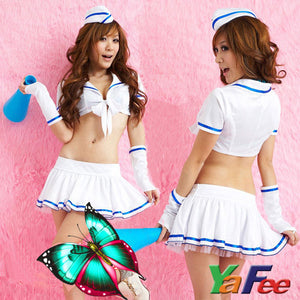 Sexy Lingerie Hostess Flight Attendant Costume Outfit - LingerieCats