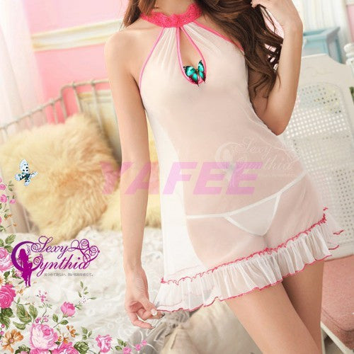 Cute Sexy White Babydoll Lingerie Dress - LingerieCats