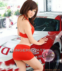 Red Speed Queen Car Model Costume