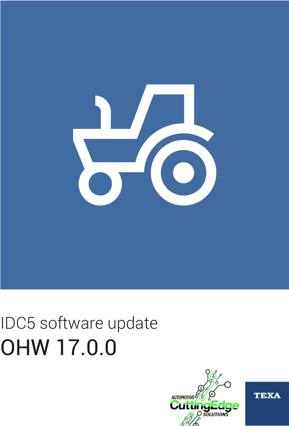 IDC5 software update OHW 17.0.0