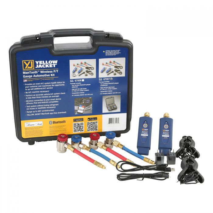 Yellow Jacket 67007 | ManTooth™ Wireless P/T Gauge Automotive Kit