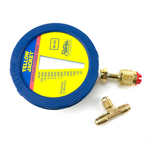 Yellow Jacket 69080 | Digital LCD Economy Vacuum Gauge with Battery, Hook And Pouch