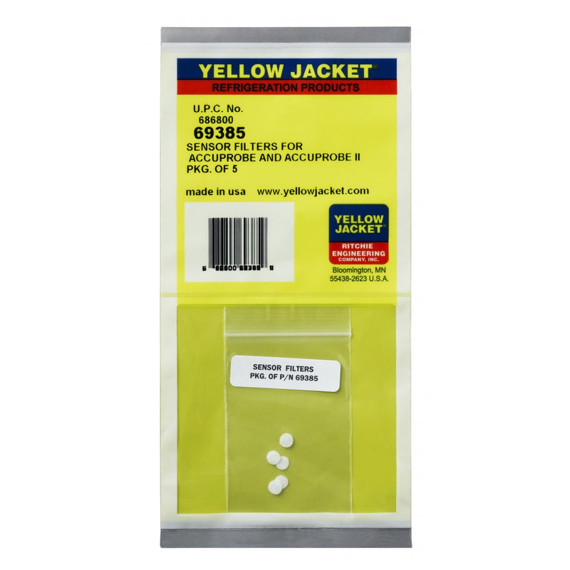 Yellow Jacket 69385 | AccuProbe II Leak Detector Sensor Filters (5 Pack)