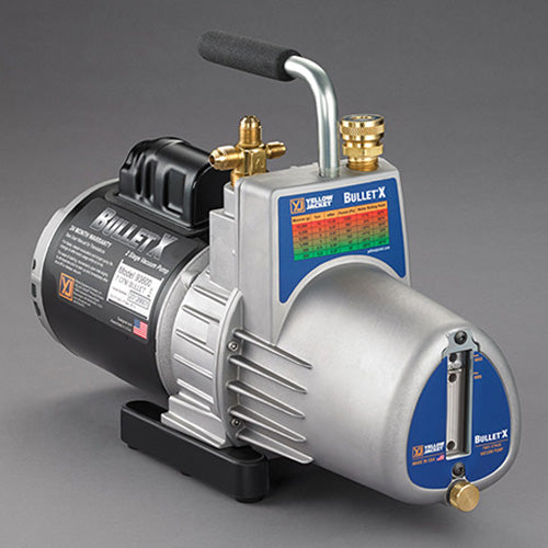 Yellow Jacket 93600 | BULLET X 1/2 hp 7 CFM Two-Stage Rotary Vane Vacuum Pump, 115V/60 Hz, US Plug