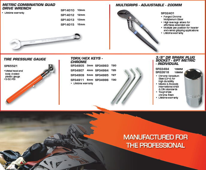 SP Tools Euro Motorcycle Tool Kit