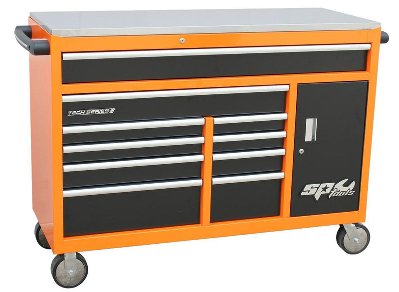 sumo-series-roller-cabinet-with-power-tool-cupboard-10-drawer-orange-black