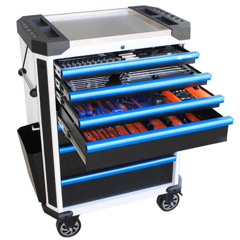 tech-series-starter-professional-technician-roller-cabinet-tool-kit-230pc-metric-only-white-blue-handles
