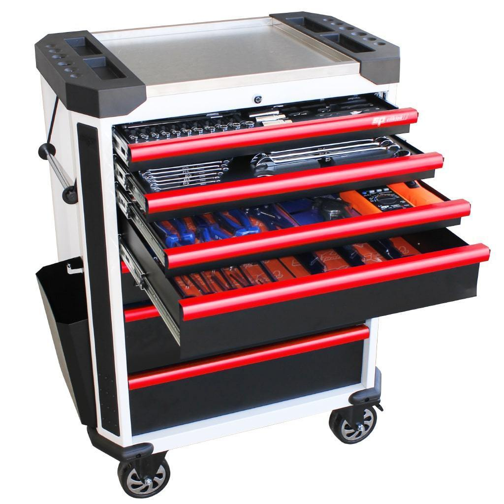 tech-series-starter-professional-technician-roller-cabinet-tool-kit-230pc-metric-only-white-red-handles