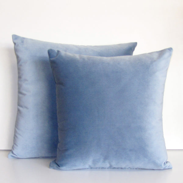 Made to order cloud blue velvet cushion cover