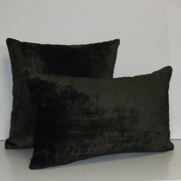 Martini green luxury Italian velvet cushion cover