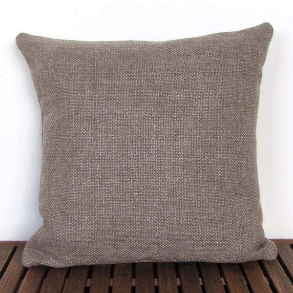 Made to order Bristol Taupe linen blend cushion cover