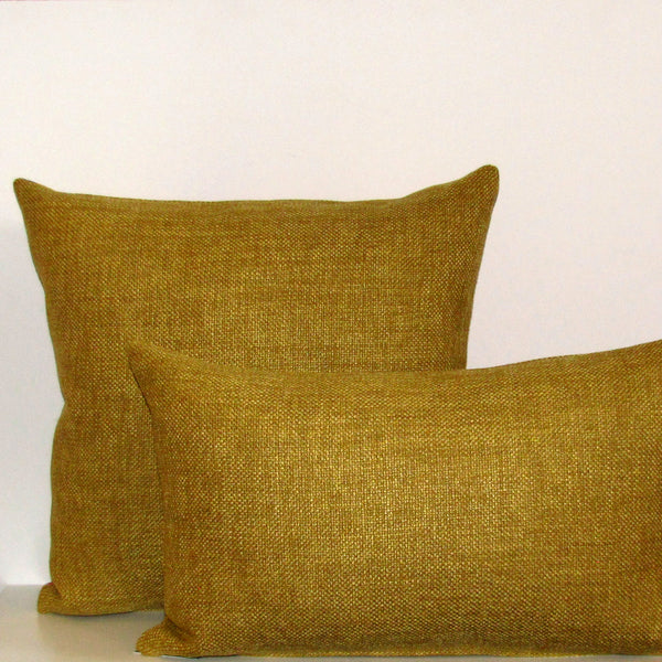 Made to order Bristol Mustard linen blend cushion cover