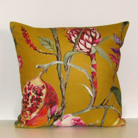 Made to order Orchard Mustard cushion cover
