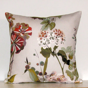 Agatha cushion cover, rose quartz with linen reverse