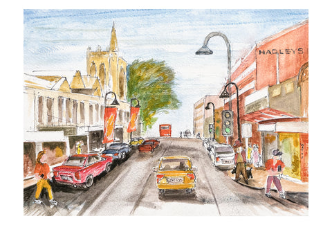 Murray St, Hobart greeting card