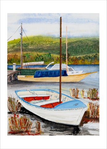 Little Dot on the Huon River, Franklin greeting card