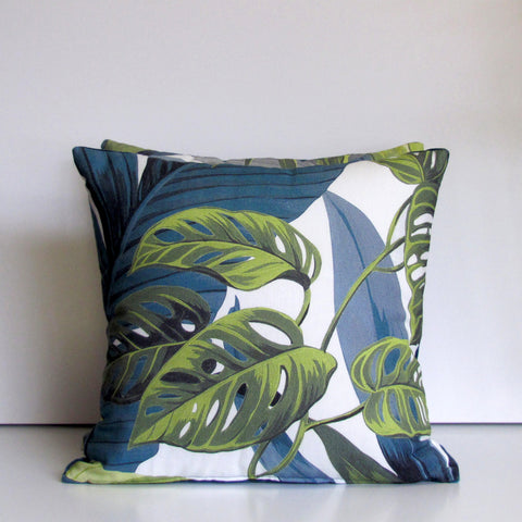 Jungle cushion cover, white
