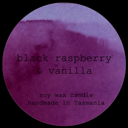 black raspberry & vanilla soy/coconut candle