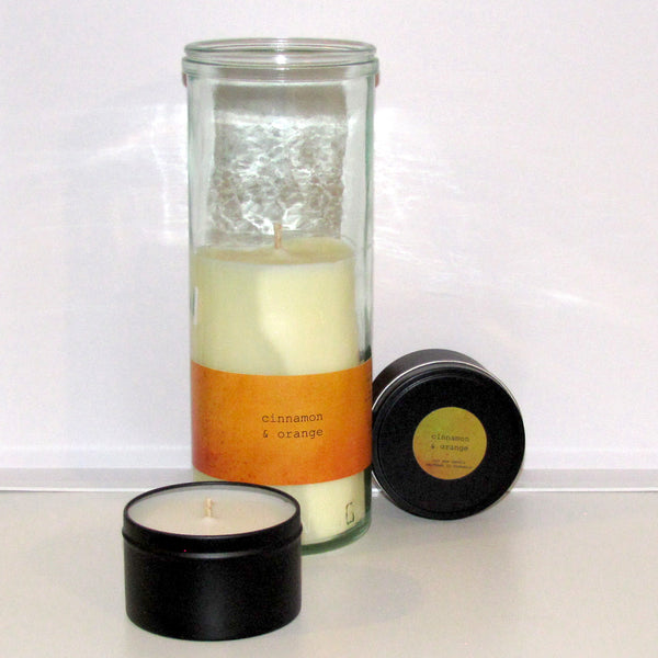 cinnamon & orange soy/coconut candle