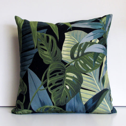 Jungle cushion cover, black