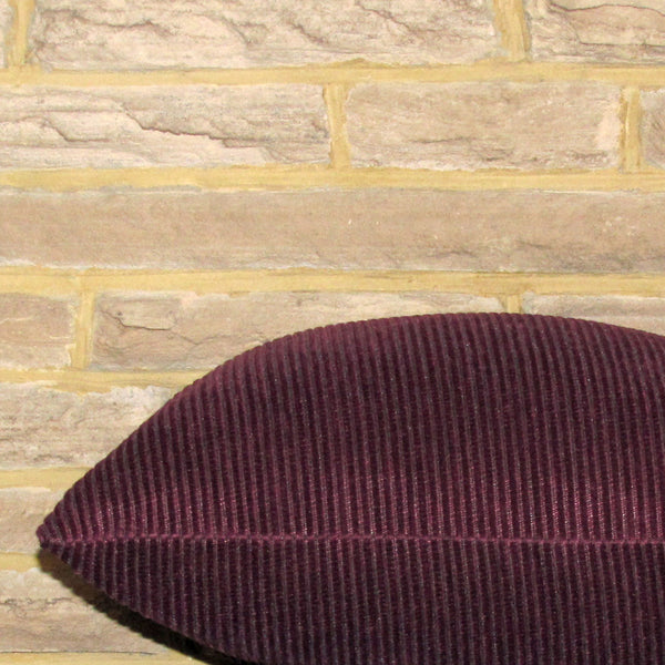 Amethyst purple corduroy cushion cover