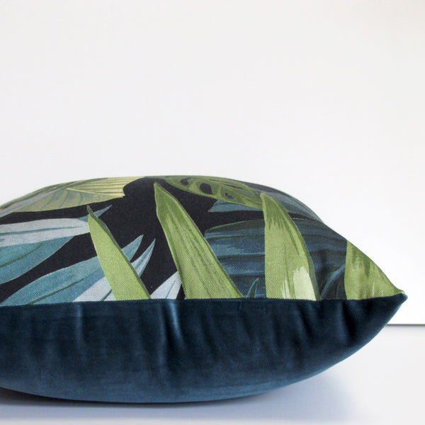 Made to order Jungle cushion cover, black background