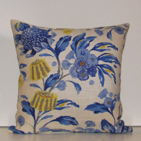 Made to order Hinterland cobalt cushion cover