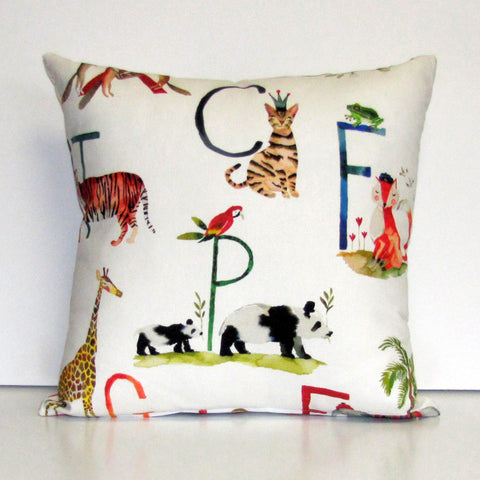 Alphabet kids cushion cover