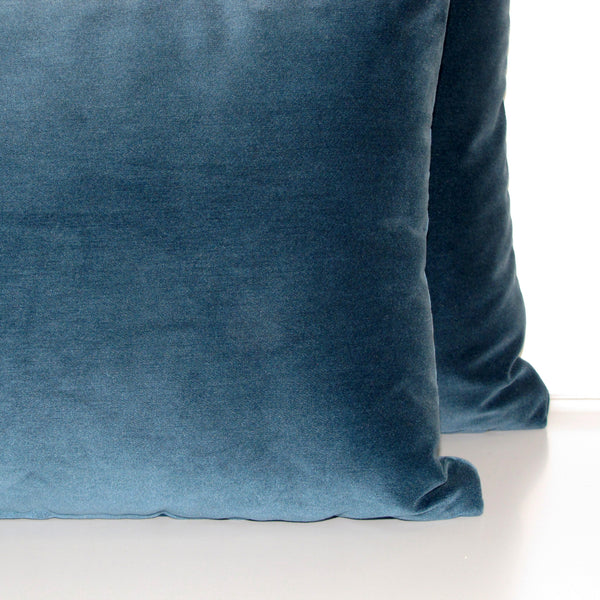 Mallard teal velvet cushion cover
