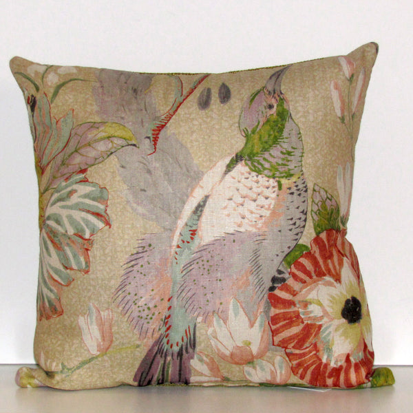 Conservatory bird cushion cover