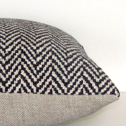Apache wool blend cushion cover, black & cream