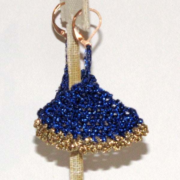sapphire fan earrings by Nanna Lee