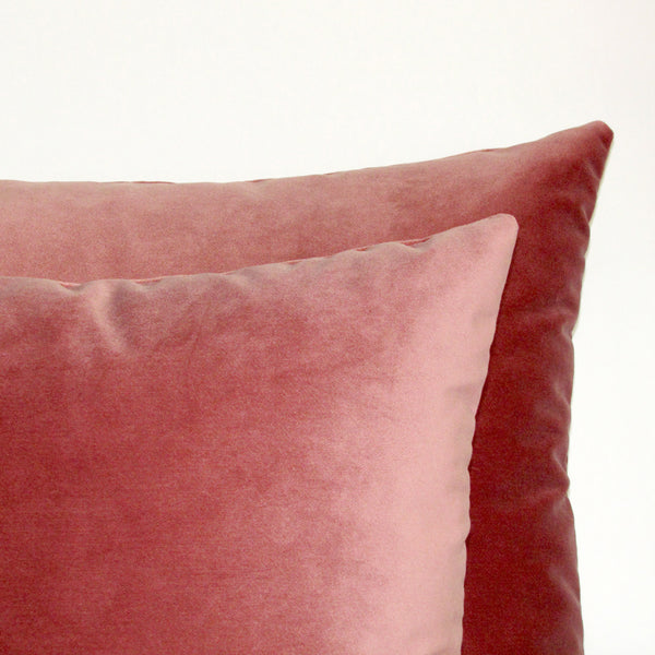 Blush pink velvet cushion cover