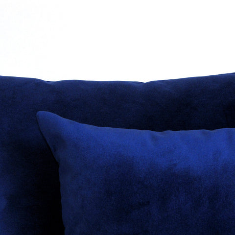 Made to order cobalt blue velvet cushion cover