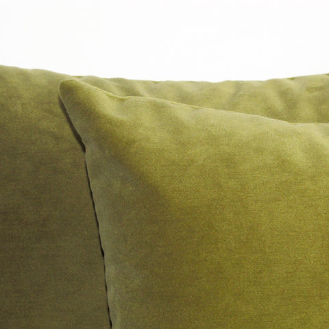 Made to order moss green velvet cushion cover
