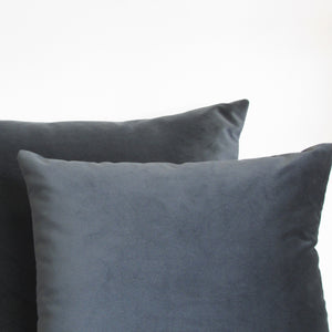 Made to order granite grey velvet cushion cover