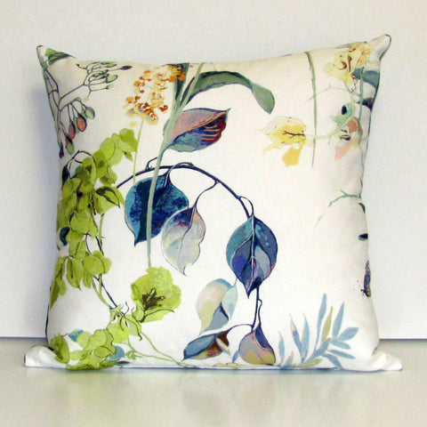 Agatha cushion cover, stream with blue reverse
