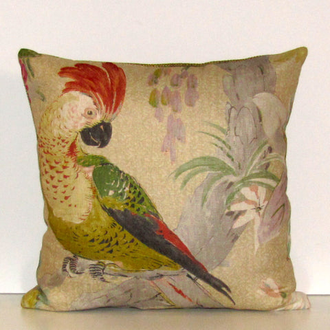 Conservatory parrot cushion cover