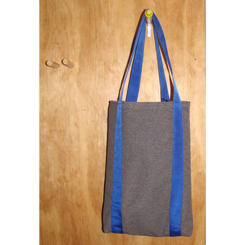 tote bag, grey dolly with blue strap