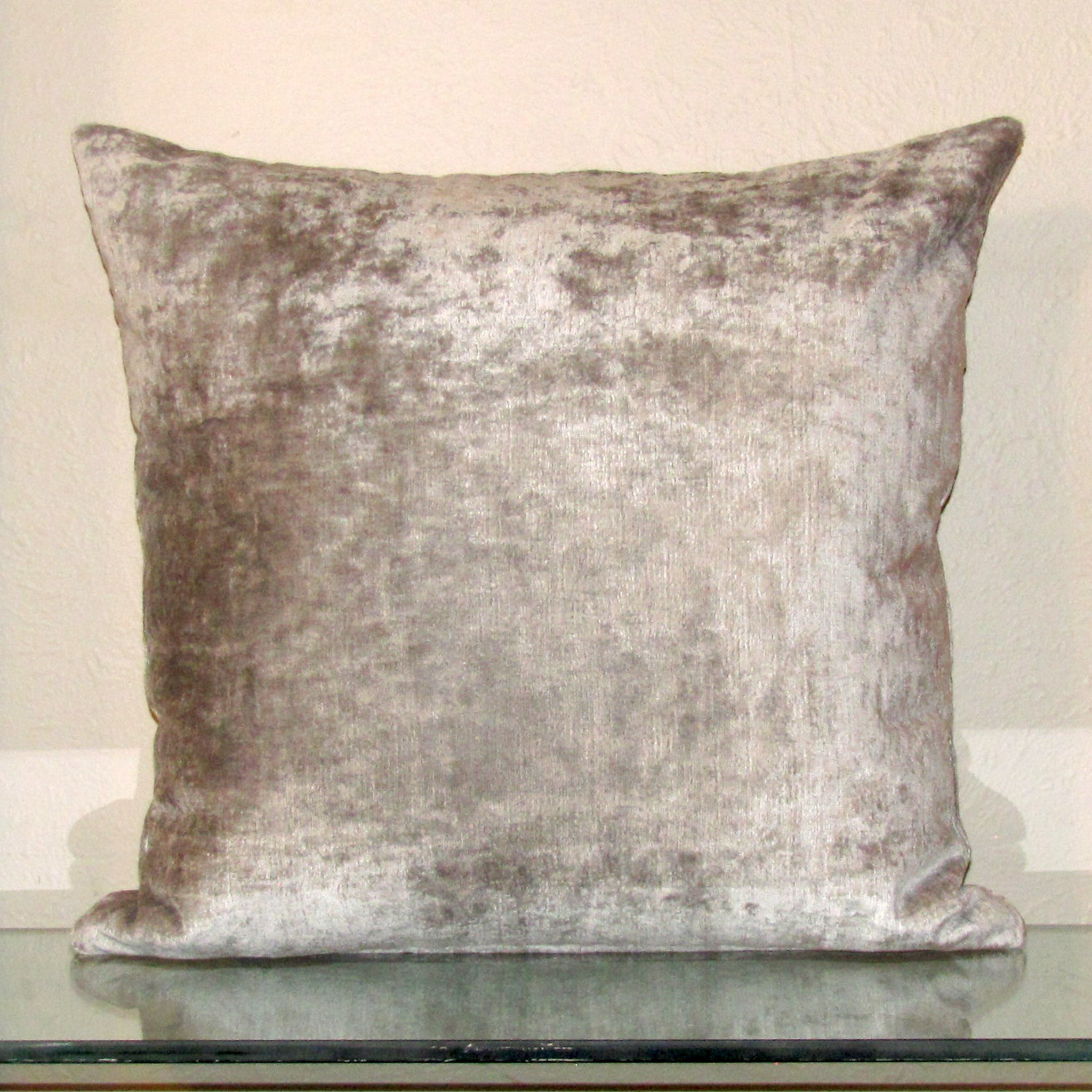 Silver luxury Italian velvet cushion cover