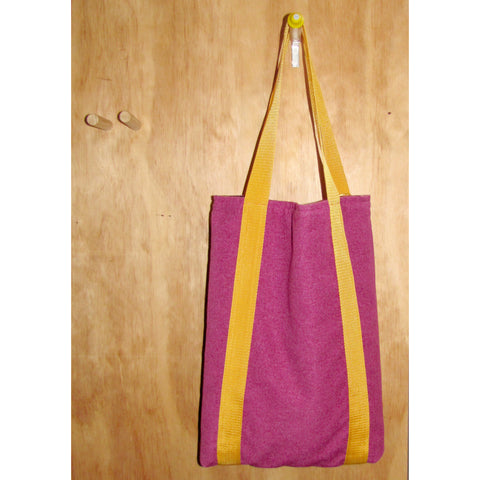 tote bag, pink dolly with yellow strap