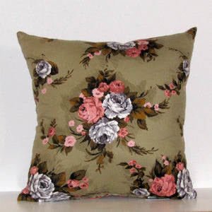 Elizabeth merino and velvet cushion cover