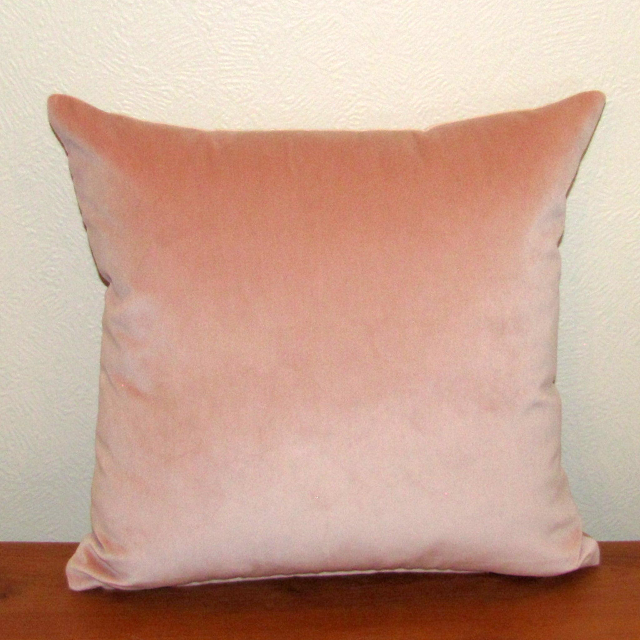 Rosewater pink velvet cushion cover