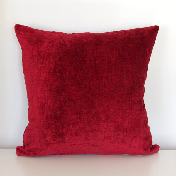 classic red luxury Italian velvet cushion cover