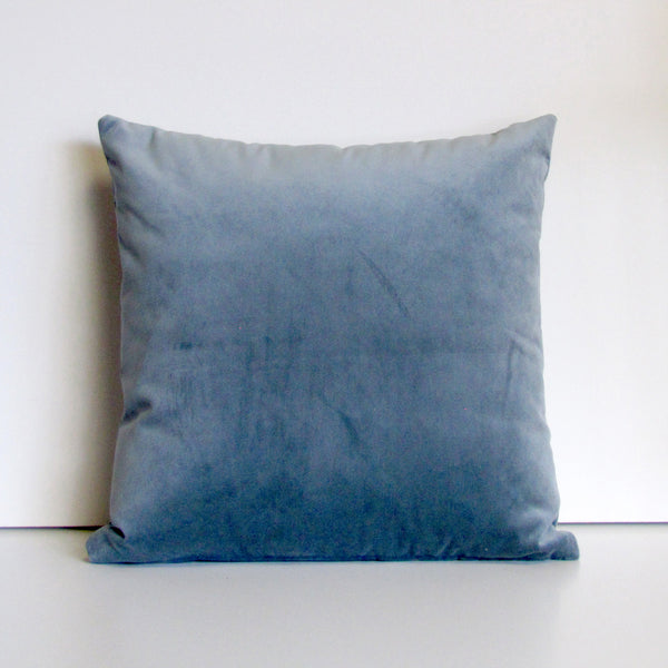 Made to order eucalyptus grey velvet cushion cover
