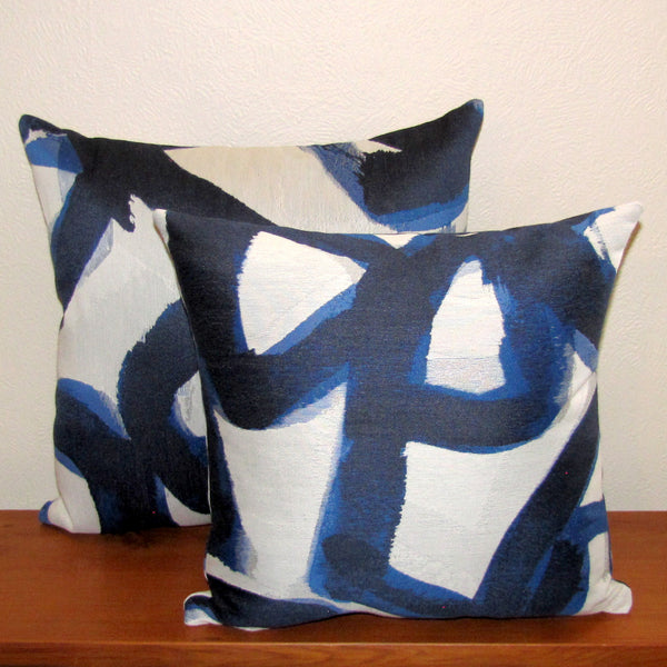 Made to order Yves Klein Canvas cushion cover