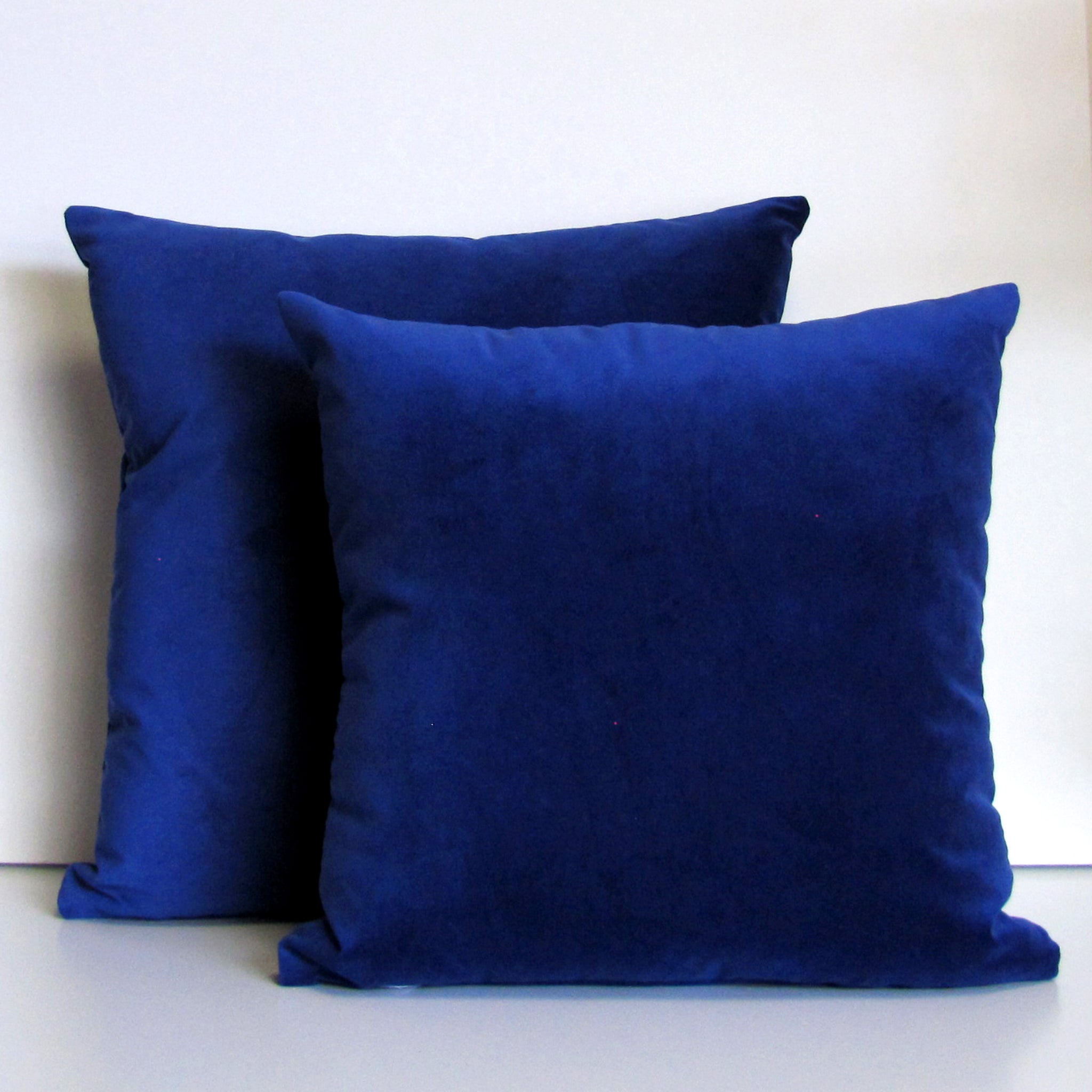 Cobalt blue velvet cushion cover