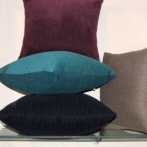 kingfisher teal corduroy cushion cover