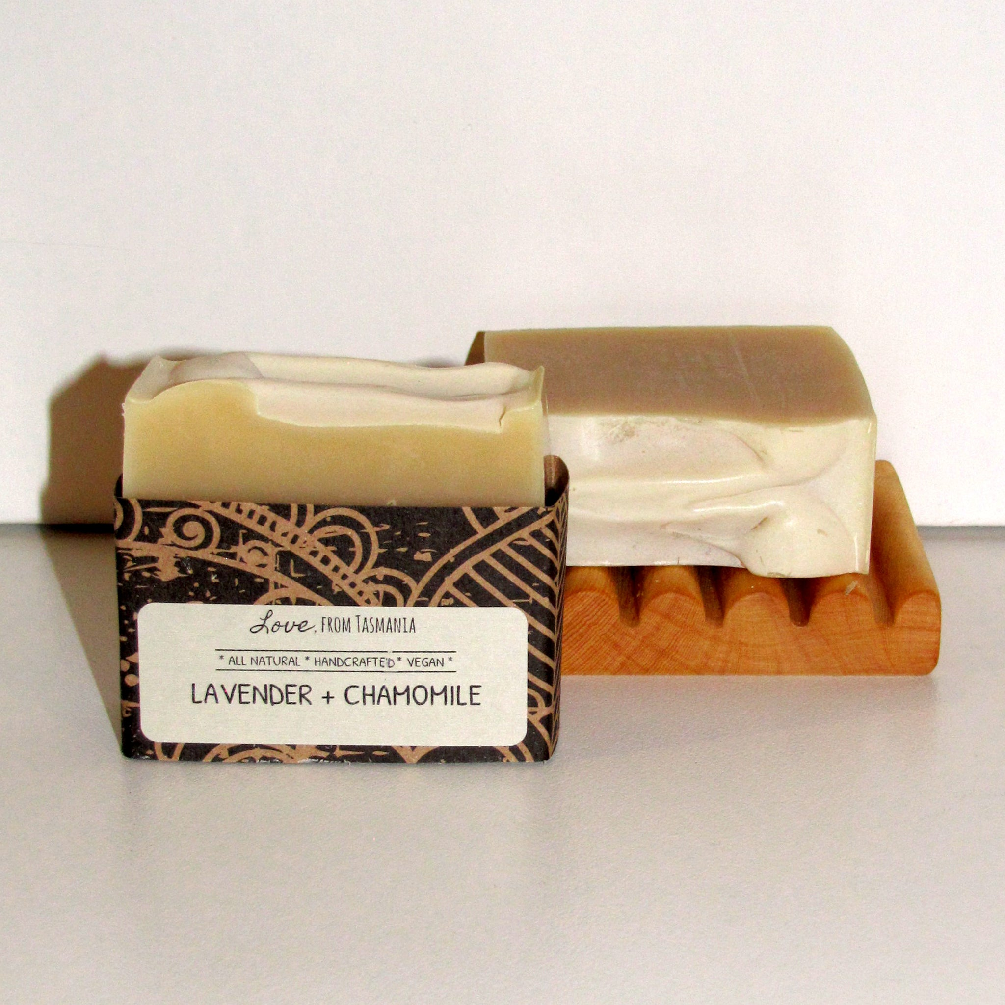 lavender & chamomile natural soap